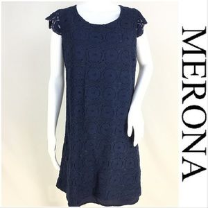 NWOT Merona Blue Lace Dress Sz 16